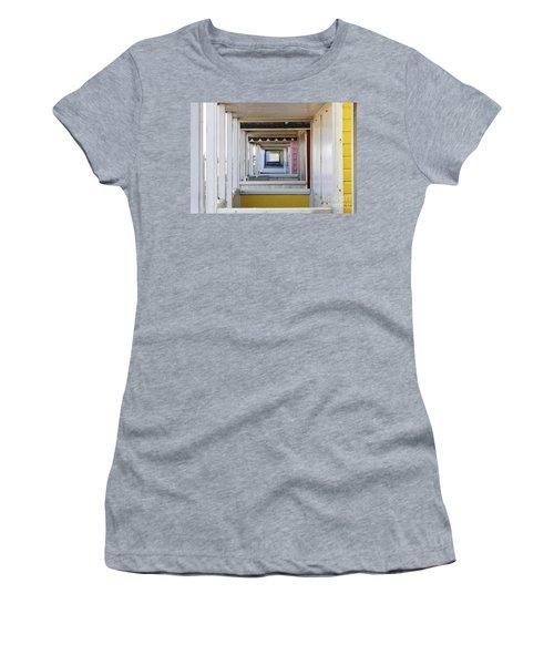 Through The Beach Huts Women's T-Shirt