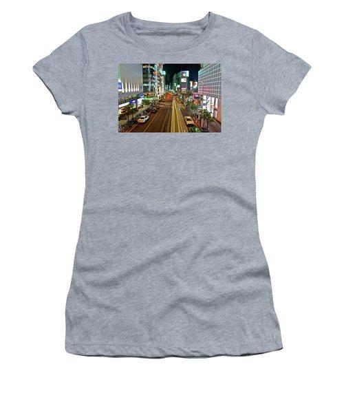 Tokyo Neon Streaks Women's T-Shirt (Junior Cut) by Jonah  Anderson
