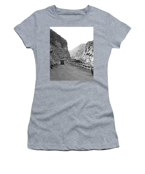 Topanga Canyon Road In La Women's T-Shirt (Athletic Fit)