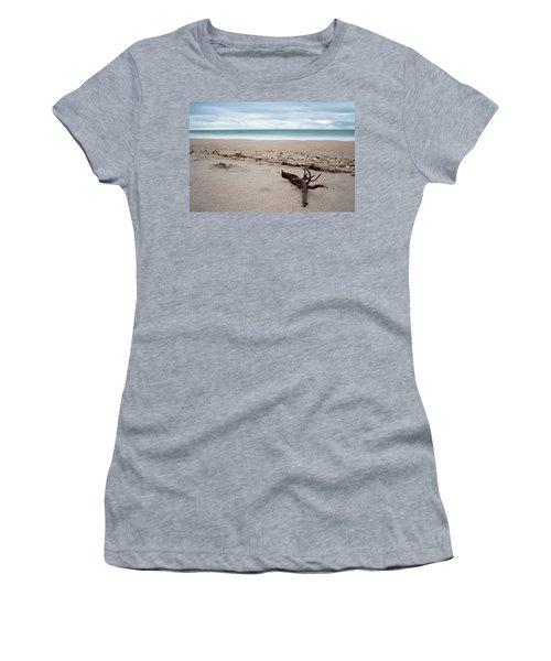 Topsail Island Driftwood Women's T-Shirt (Junior Cut) by Shane Holsclaw