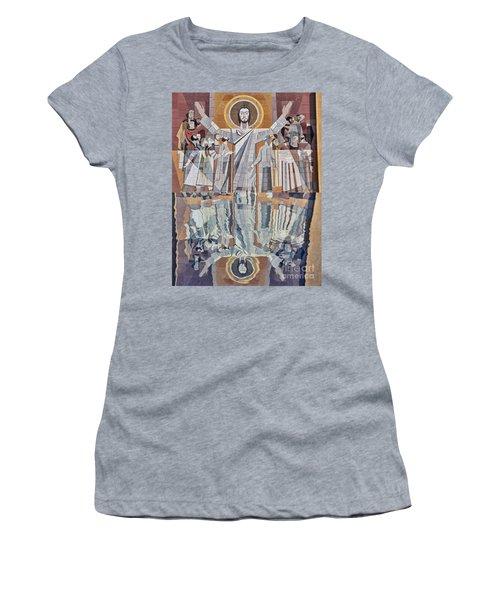 Touchdown Jesus Women's T-Shirt (Athletic Fit)