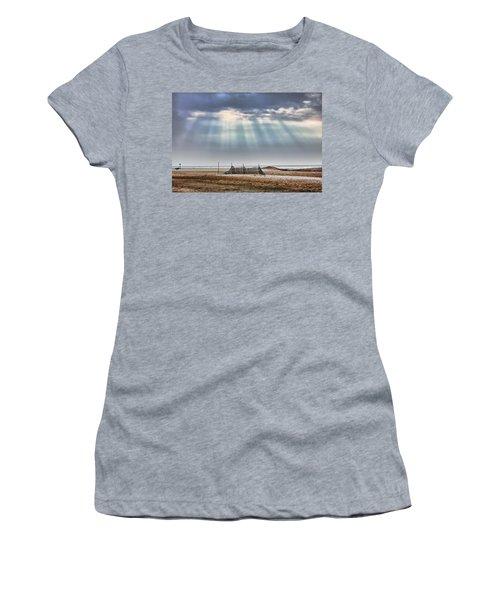 Touched By Heaven Women's T-Shirt (Junior Cut) by Sennie Pierson