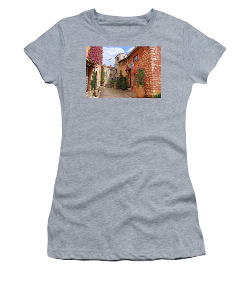 Women's T-Shirt (Junior Cut) featuring the painting Tourettes Sur Loup France by Tim Gilliland