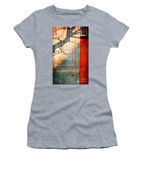 Tree Branches Shadow On Wall Women's T-Shirt