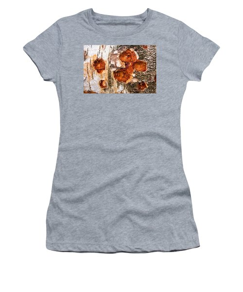 Tree Trunk Closeup - Wooden Structure Women's T-Shirt (Junior Cut) by Matthias Hauser