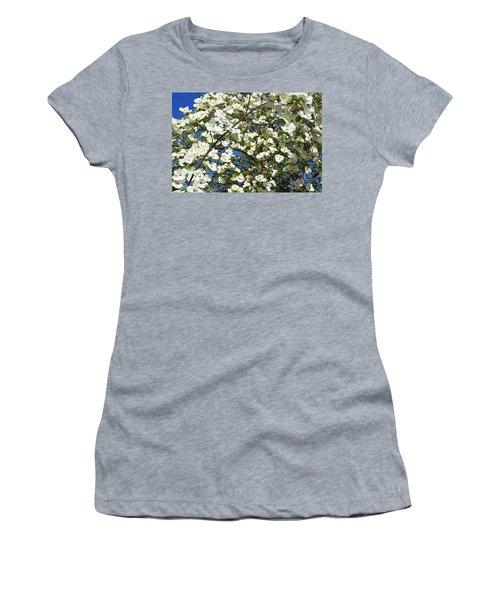 Trees Blossoming Art Prints White Dogwoods Women's T-Shirt