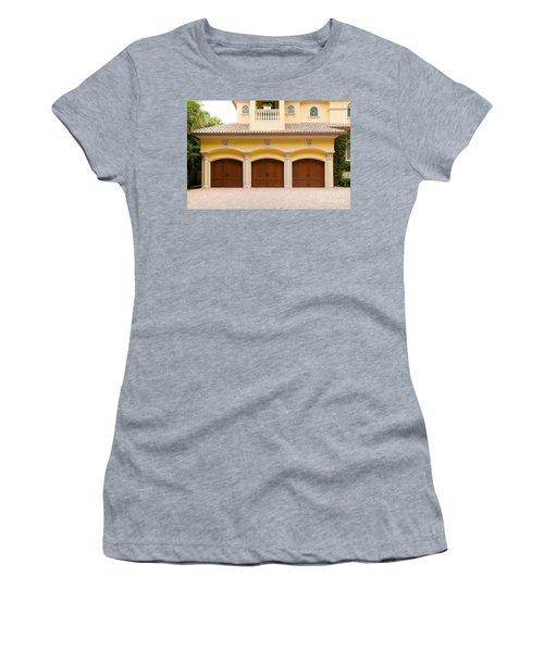 Triple Garage Doors Women's T-Shirt