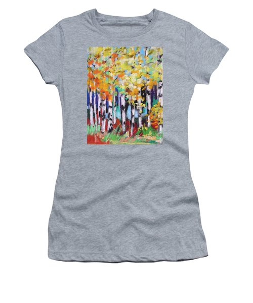 Turning Birches Women's T-Shirt (Athletic Fit)