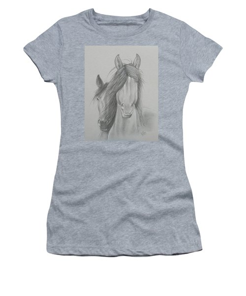 Two Wild Horses Women's T-Shirt (Athletic Fit)