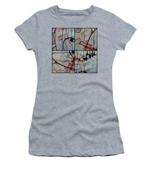 Women's T-Shirt (Junior Cut) featuring the photograph Unfaithful Desire Part One by Sir Josef - Social Critic - ART