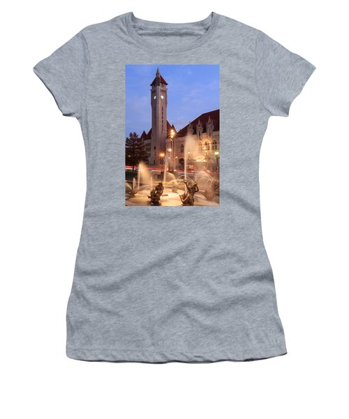 Union Station In Twilight Women's T-Shirt (Athletic Fit)