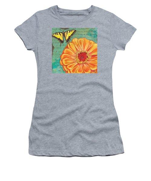 Verdigris Floral 1 Women's T-Shirt (Athletic Fit)