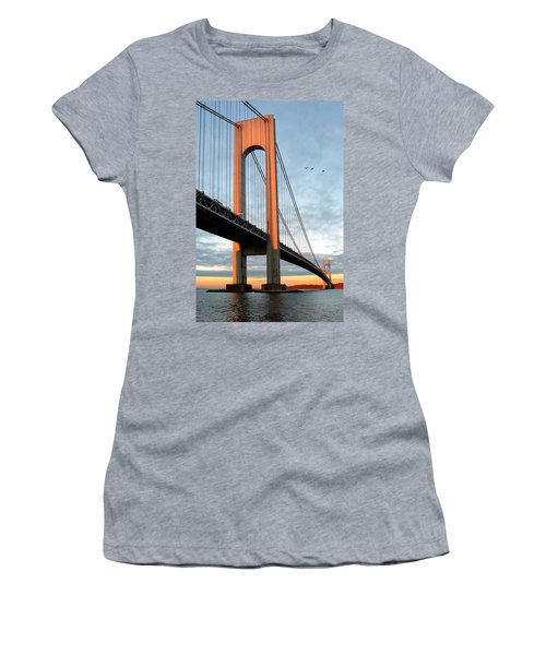 Verrazano Bridge At Sunrise - Verrazano Narrows Women's T-Shirt