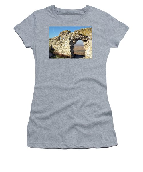 View From Enisala Fortress 2 Women's T-Shirt (Junior Cut) by Manuela Constantin