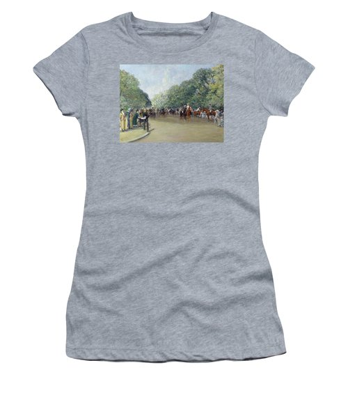 View Of Hyde Park With Figures On Rotten Row  Women's T-Shirt (Junior Cut) by Albert Jnr Ludovici