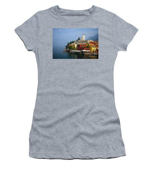 Village Near The Water With Alps In The Background  Women's T-Shirt