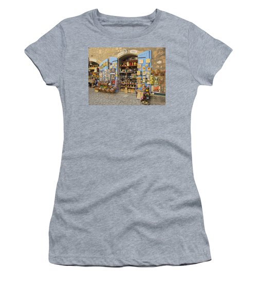 Village Shop Display Women's T-Shirt (Athletic Fit)