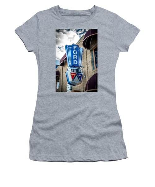 Vintage Ford Sign Women's T-Shirt (Athletic Fit)