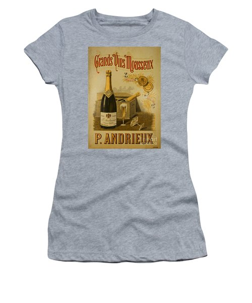 Vintage French Poster Andrieux Wine Women's T-Shirt