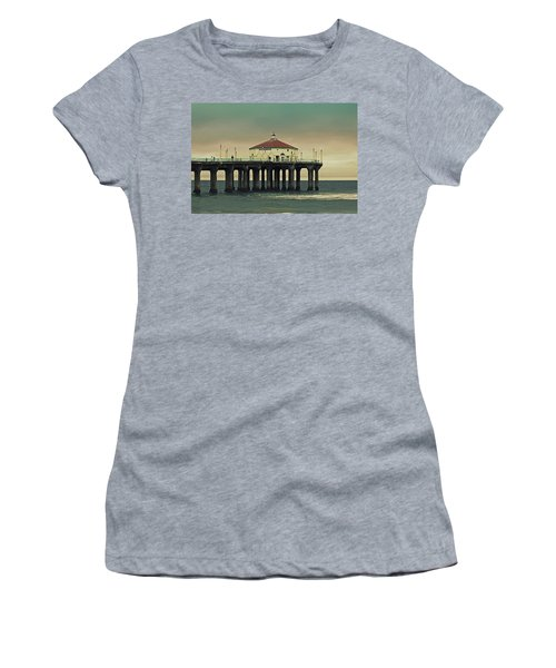Vintage Manhattan Beach Pier Women's T-Shirt