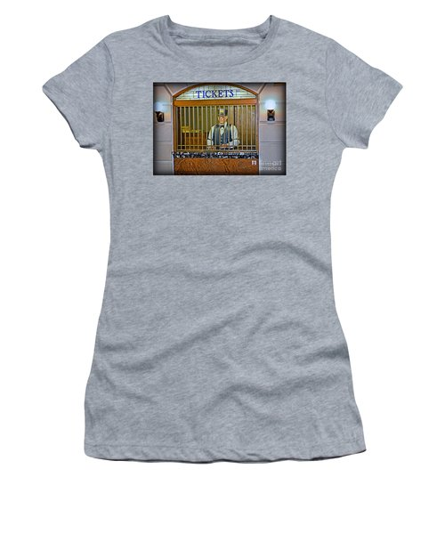 Women's T-Shirt featuring the photograph Vintage Train Ticket Booth by Gary Keesler
