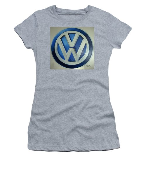 Vw Logo Blue Women's T-Shirt (Athletic Fit)