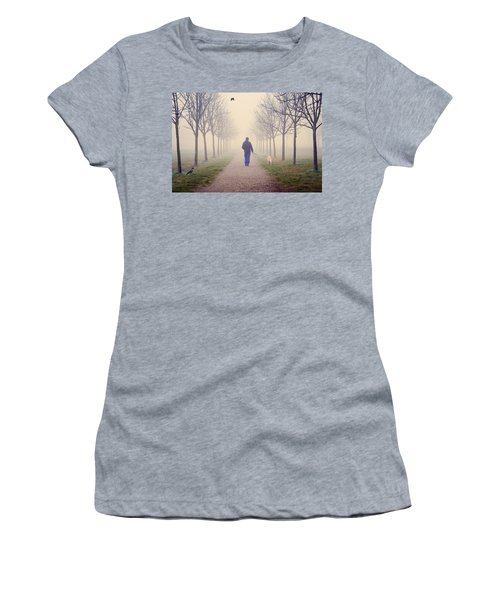 Walking With The Dog Women's T-Shirt (Athletic Fit)