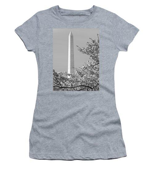Washington Monument Amidst The Cherry Blossoms Women's T-Shirt
