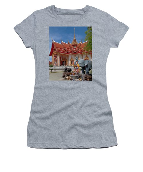 Wat Chalong Wiharn And Elephant Tribute Dthp045 Women's T-Shirt (Athletic Fit)