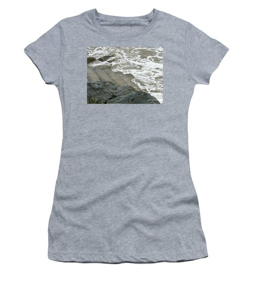Women's T-Shirt (Junior Cut) featuring the photograph Watch Your Step by Brenda Brown