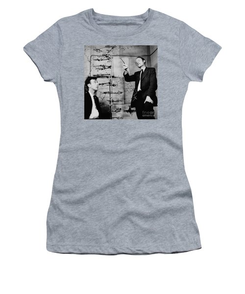 Watson And Crick With Dna Model Women's T-Shirt