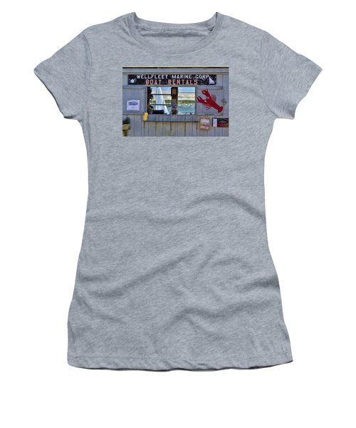 Wellfleet Harbor Thru The Window Women's T-Shirt (Athletic Fit)