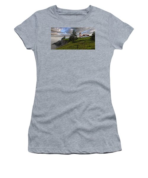 West Quoddy Head Lighthouse Panorama Women's T-Shirt (Junior Cut) by Marty Saccone