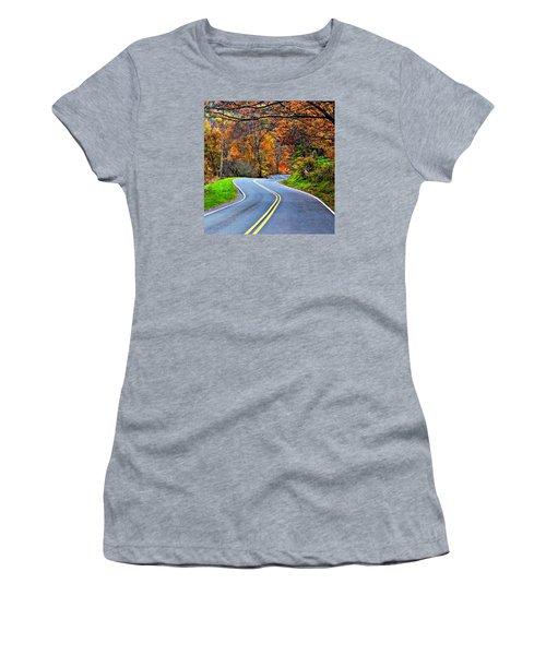 West Virginia Curves 2 Women's T-Shirt (Junior Cut) by Steve Harrington