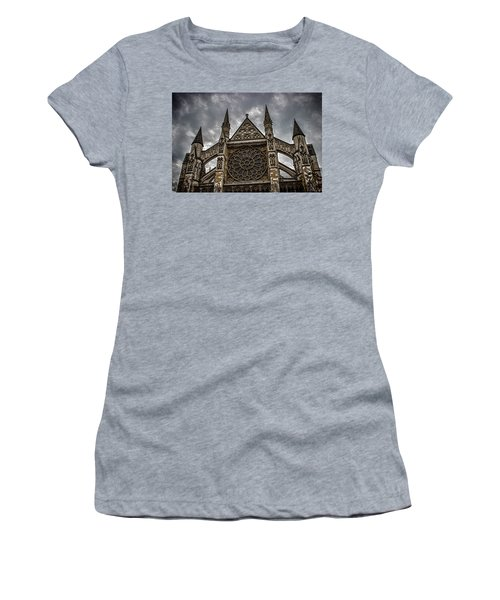 Westminster Abbey Women's T-Shirt (Junior Cut) by Martin Newman