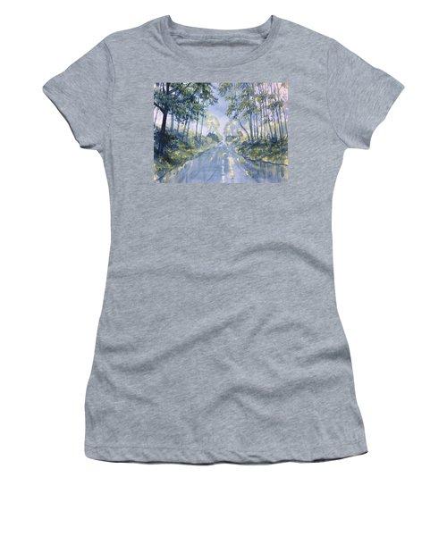 Wet Road In Woldgate Women's T-Shirt