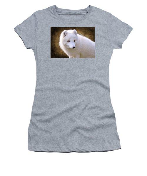 White Arctic Fox Women's T-Shirt (Athletic Fit)