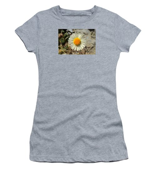 White Wild Flower Women's T-Shirt (Athletic Fit)