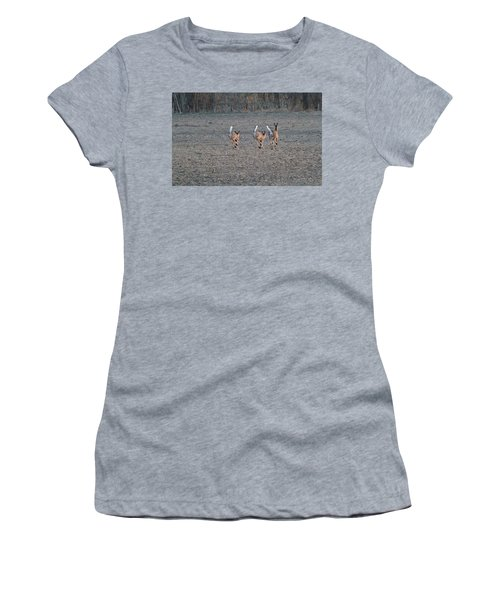 White Tailed Deer Running Women's T-Shirt