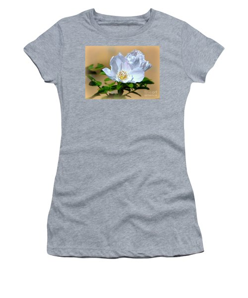 White Tea Rose Women's T-Shirt (Athletic Fit)