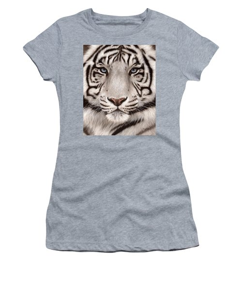 White Tiger Painting Women's T-Shirt (Athletic Fit)