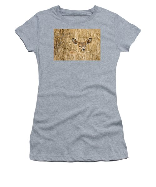 Whitetail In Weeds Women's T-Shirt (Athletic Fit)