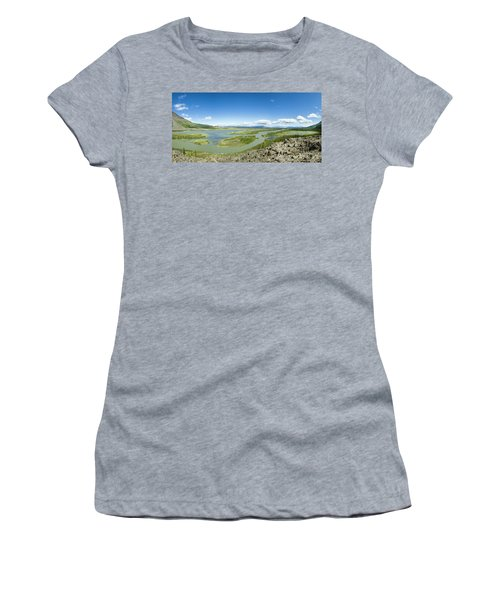Wide View Of Rafts On The Upper Alsek Women's T-Shirt
