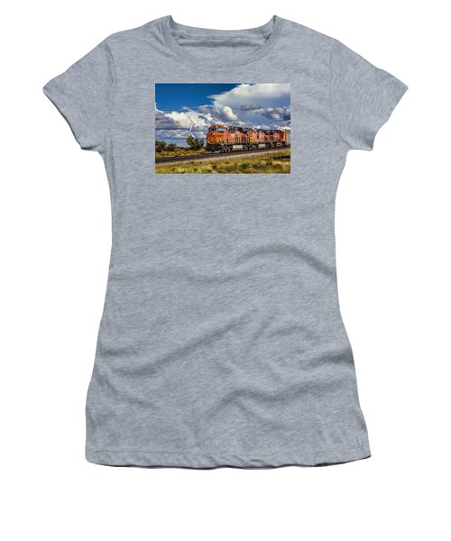 Wind And Rail Women's T-Shirt (Junior Cut) by Fred Larson