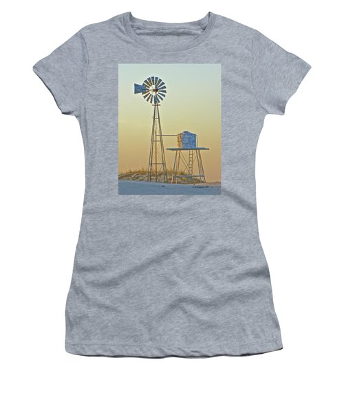 Windmill At Dawn 2011 Women's T-Shirt (Athletic Fit)