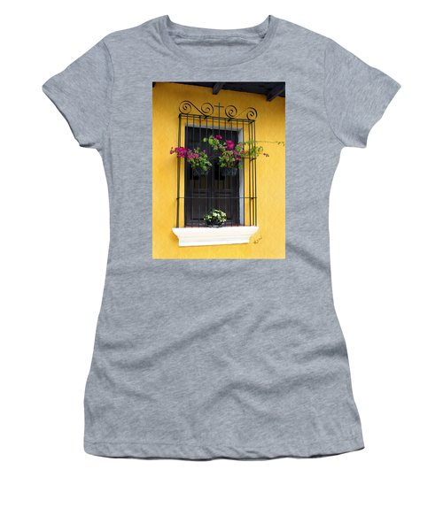 Window At Old Antigua Guatemala Women's T-Shirt (Athletic Fit)