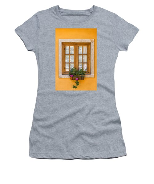 Window With Flowers Women's T-Shirt (Athletic Fit)