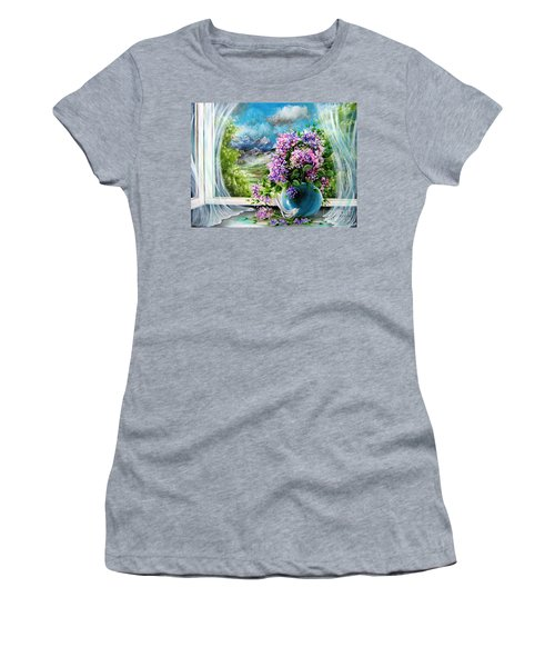 Windows Of My World Women's T-Shirt (Athletic Fit)
