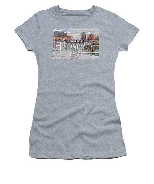 Winter At High Falls Women's T-Shirt