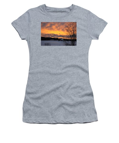 Winter Fire Women's T-Shirt (Athletic Fit)